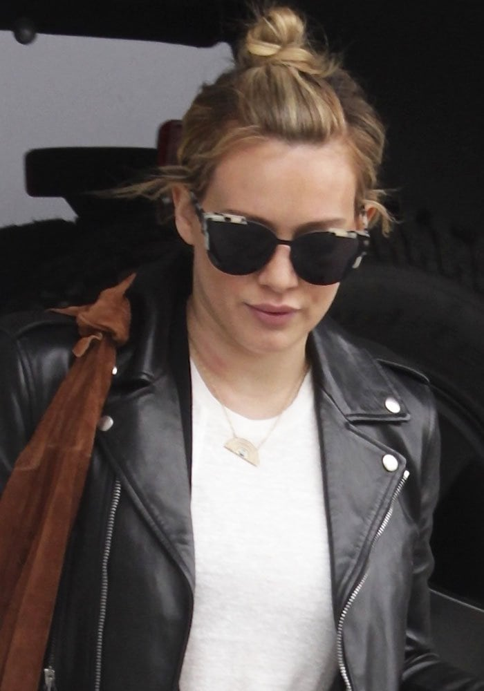 Hilary Duff Gym Boots Leather Kurt Geiger 1