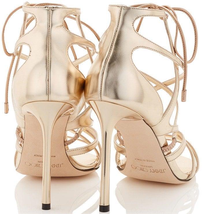 Jimmy Choo Tess metallic leather heels