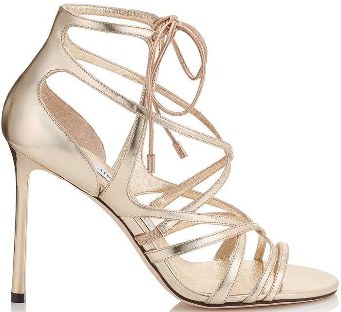 Jimmy Choo Tess metallic leather sandal