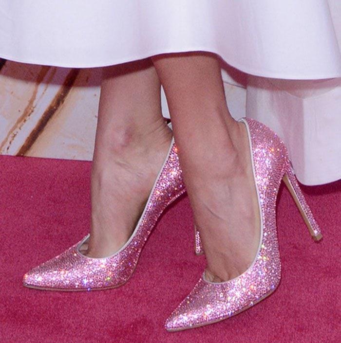 stuart weitzman pink pumps