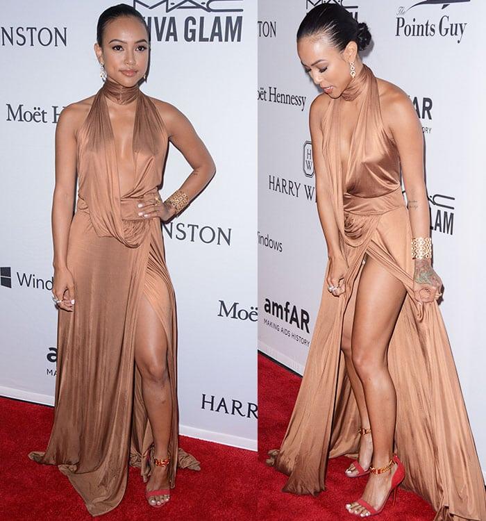Karrueche-Tran-wardrobe-malfunction-thigh-split-dress