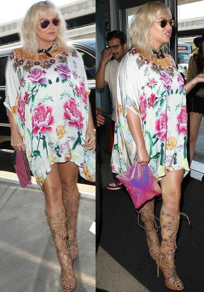 d6b3f13266a Kesha Talks Gun Control in Ivy Kirzhner  Cannes  Sandals
