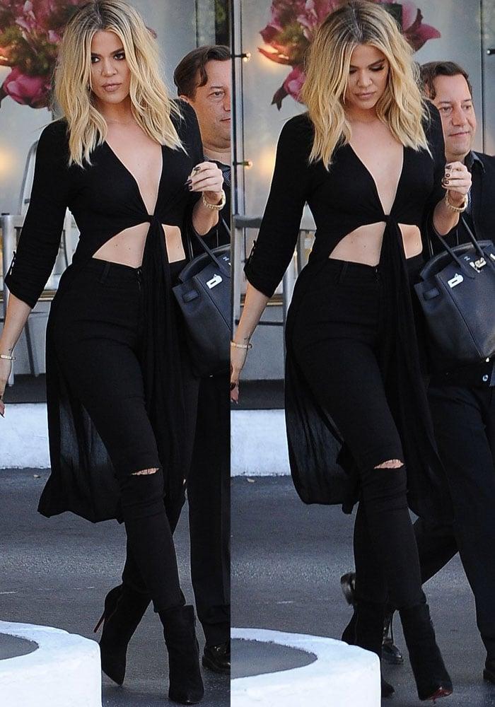 Khloe Kardashian Shopping Abs Christian Louboutin 2