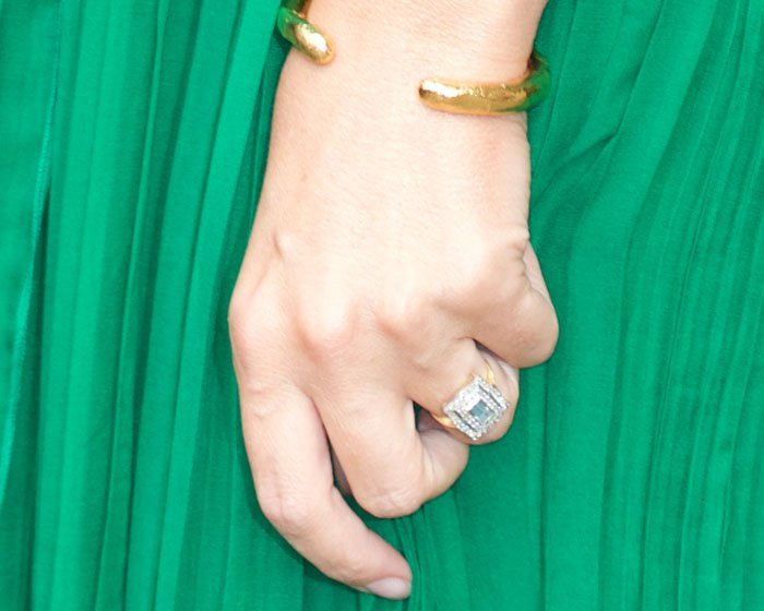Kylie flashes her huge engagement ring from fiancé Joshua Sasse