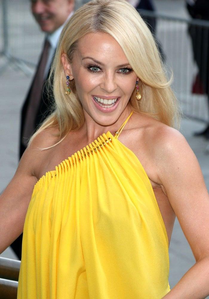 Kylie Minogue VA Summer Party Gold Sandals 1