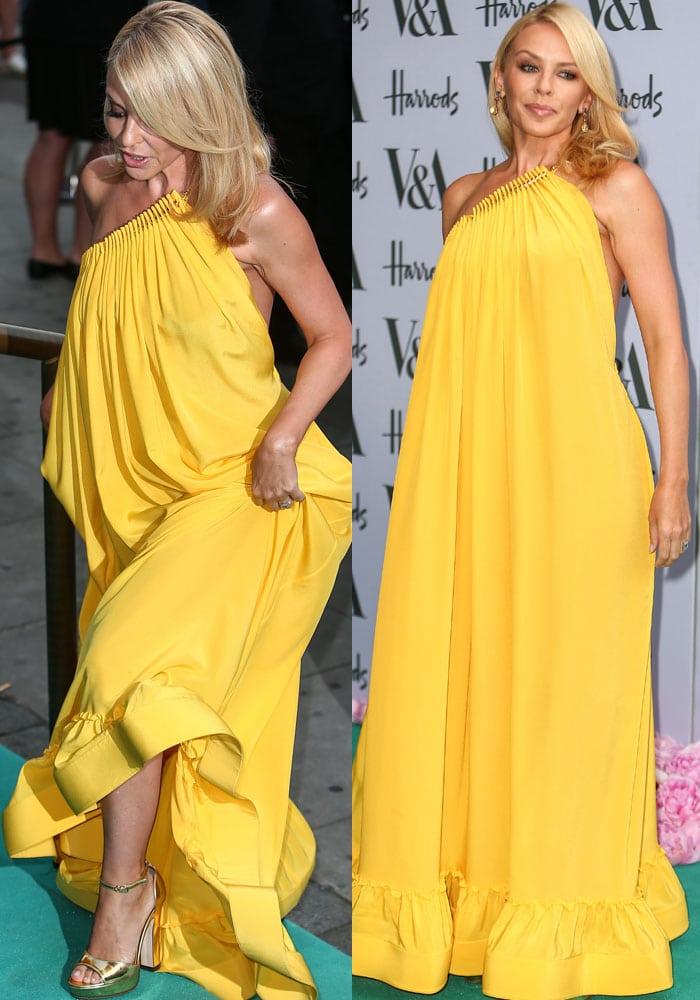 Kylie Minogue VA Summer Party Gold Sandals 2