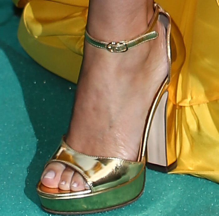 Kylie Minogue VA Summer Party Gold Sandals 3