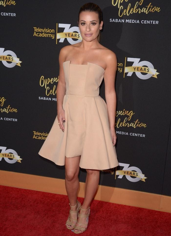 Lea Michele1 tv academy 70th gala