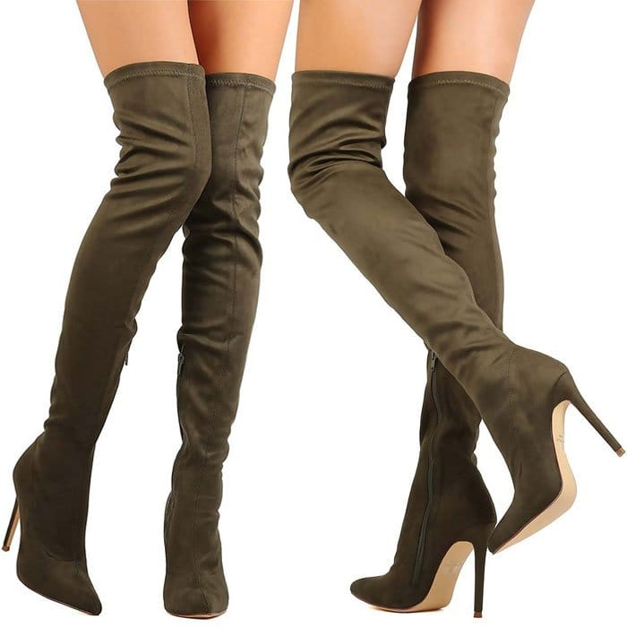 Liliana DB54 Suede Thigh Boots