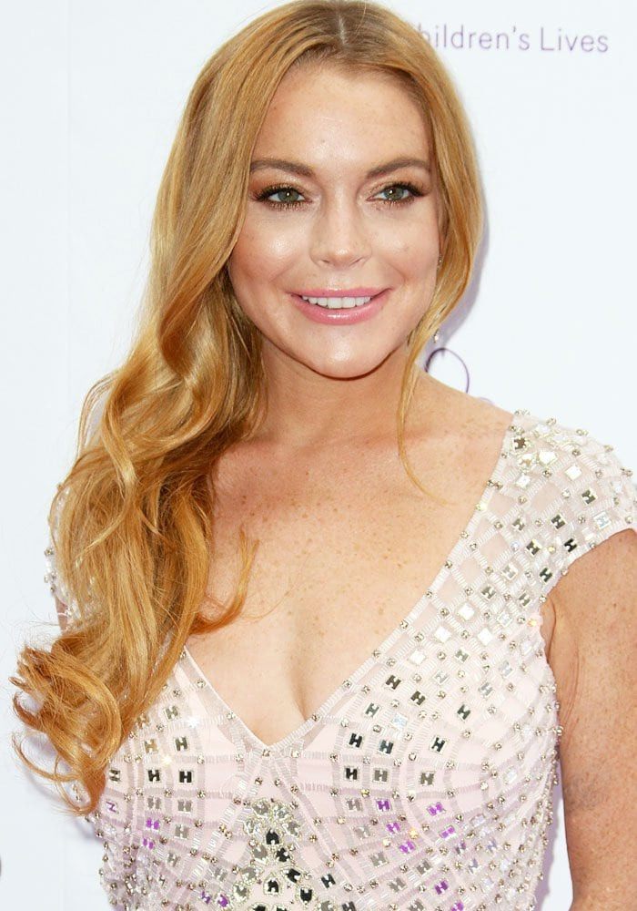Lindsay Lohan at theCaudwell Children Butterfly Ball held at the Grosvenor House Hotel, London on June 22, 2016