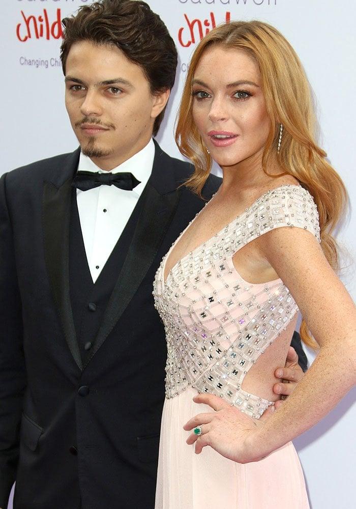 Lindsay Lohan with rumored fiancé Egor Tarabasov