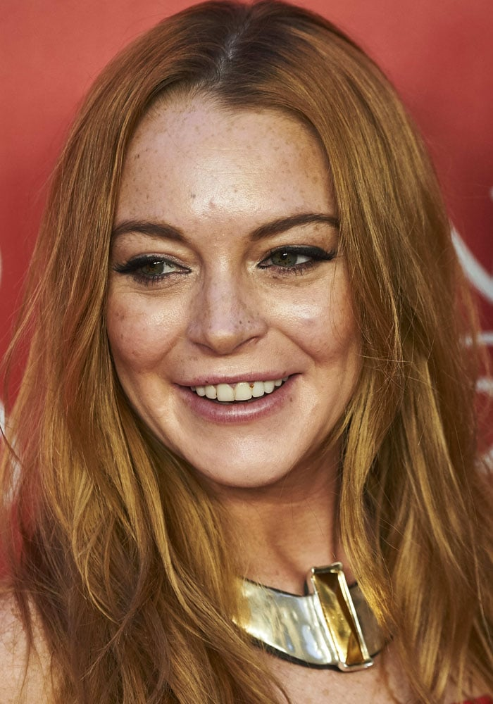 Lindsay Lohan at UNOde50's 20th anniversary held at the Palacio de Saldaña in Madrid, Spain on June 10, 2016
