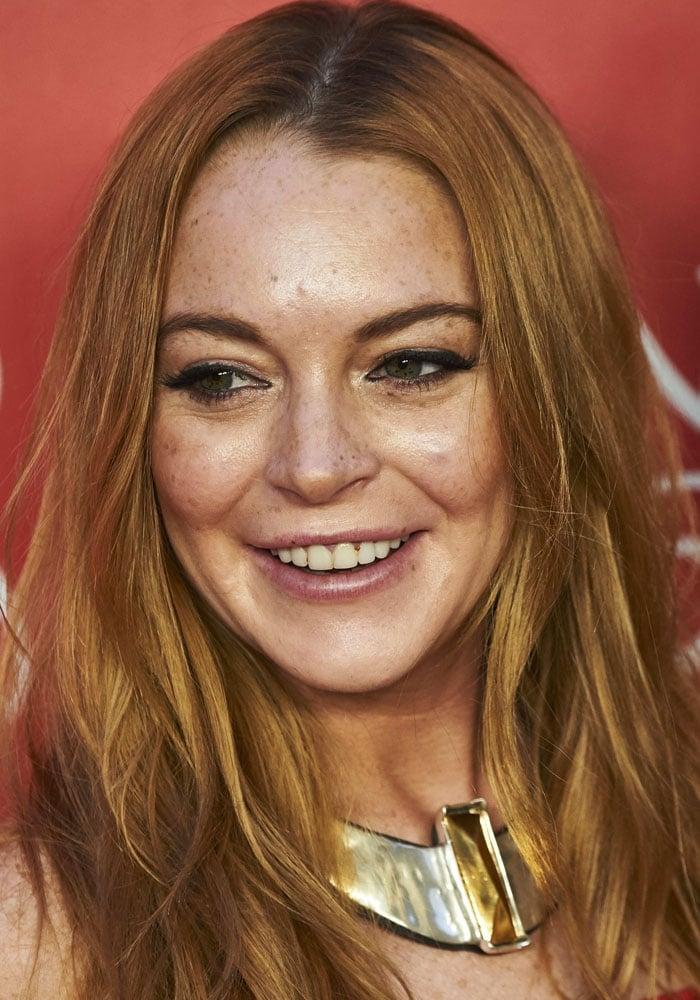Lindsay Lohan atUNOde50's 20th anniversary held at the Palacio de Saldaña in Madrid, Spain on June 10, 2016