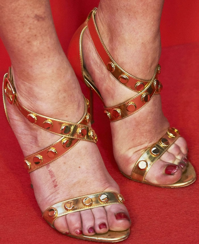 Lindsay Lohan's feet inRupert Sanderson's Tiffany sandals