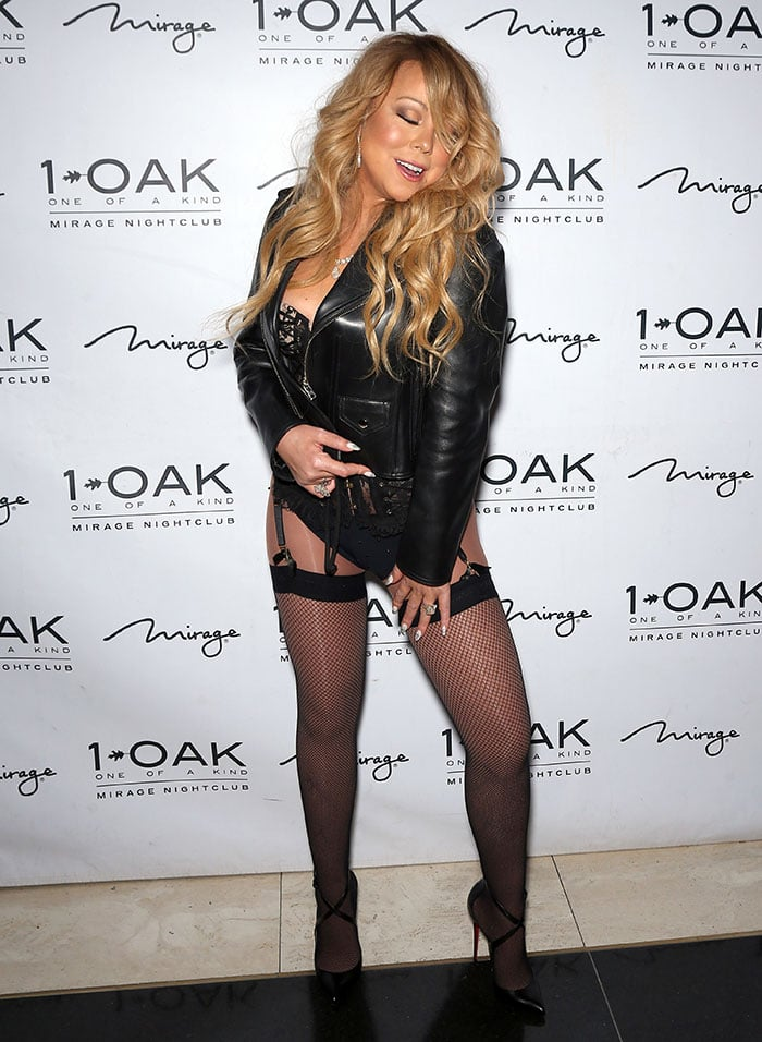 Mariah Carey at 1 Oak Nightclub inside The Mirage for her debut DJ set in Las Vegas on June 25, 2016