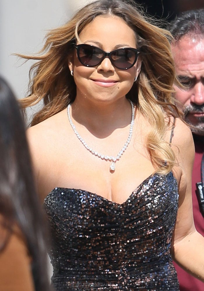 Mariah Carey arrives at the ABC Studios for Jimmy Kimmel Live! on June 1, 2016
