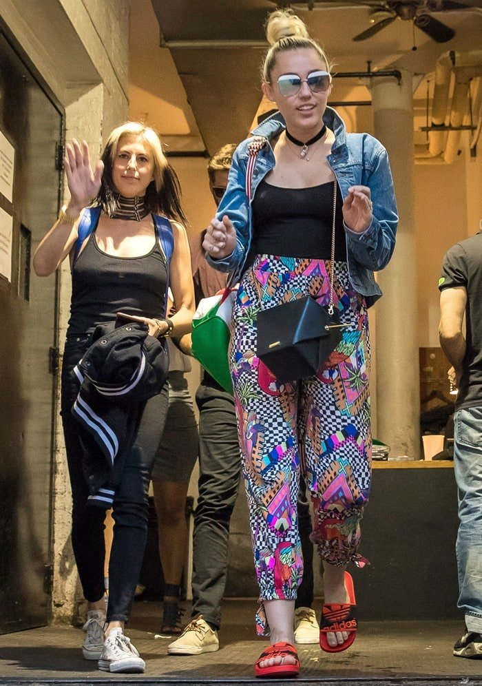 Miley Cyrus and Liam Hemsworth leaving Soho House in New York City where they spent a romantic evening together on June 15, 2016