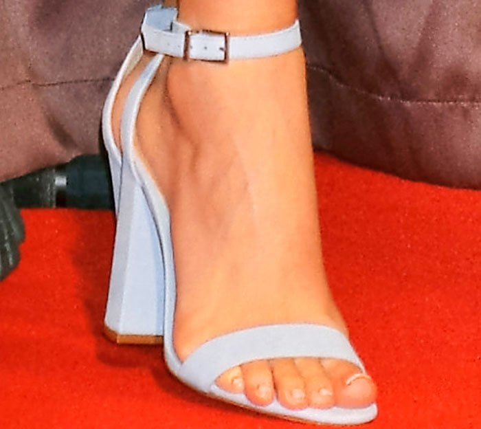 Miranda takes the Schutz 'Enida' sandals with her to Japan
