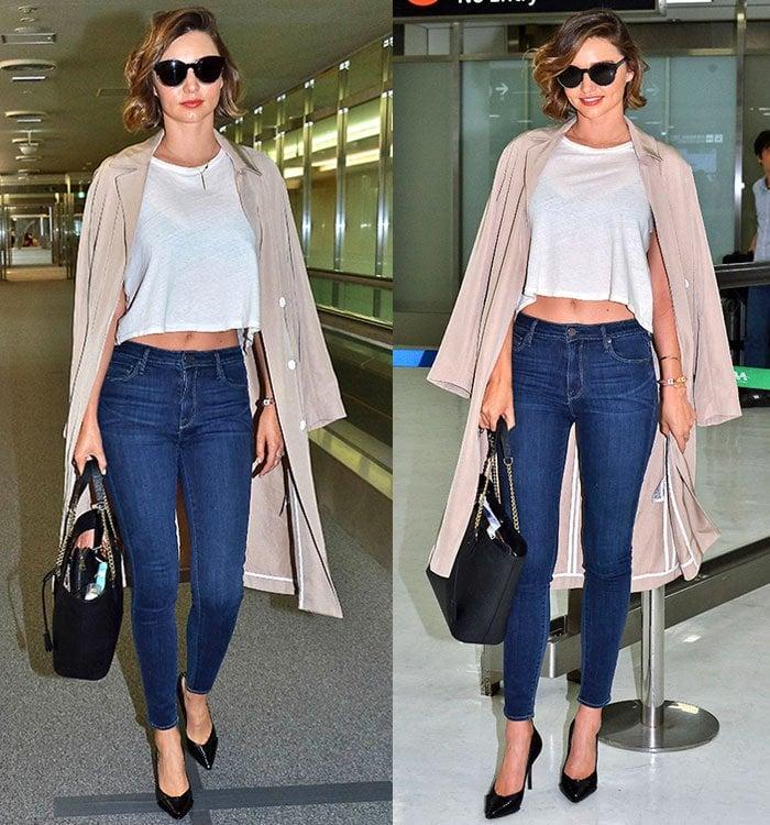 Miranda-Kerr-crop-top-skinny-jeans-airport-style