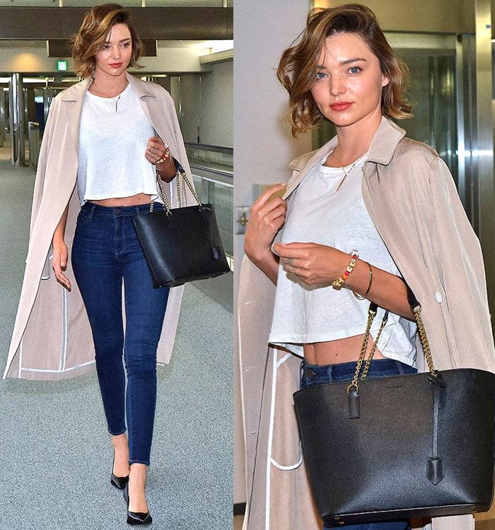 Miranda-Kerr-white-crop-top-skinny-jeans-coat