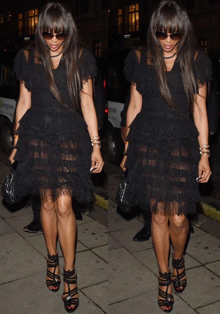 Naomi Campbell Hakkasan London Alaia 3