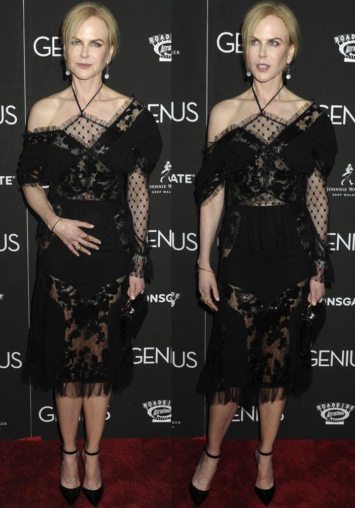 Nicole Kidman Genius New York Gianvito Rossi 2