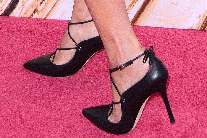 "Olivia Culpo's feet in Kate Spade New York ""Priscilla"" pumps"