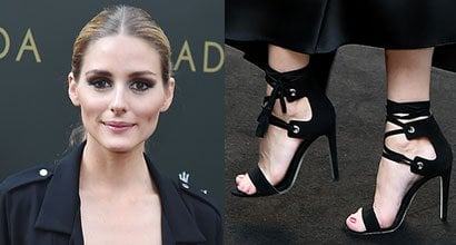 0f96243b6e945b Olivia Palermo Styles All-Black Outfit With Rebecca Minkoff  Riley  Sandals