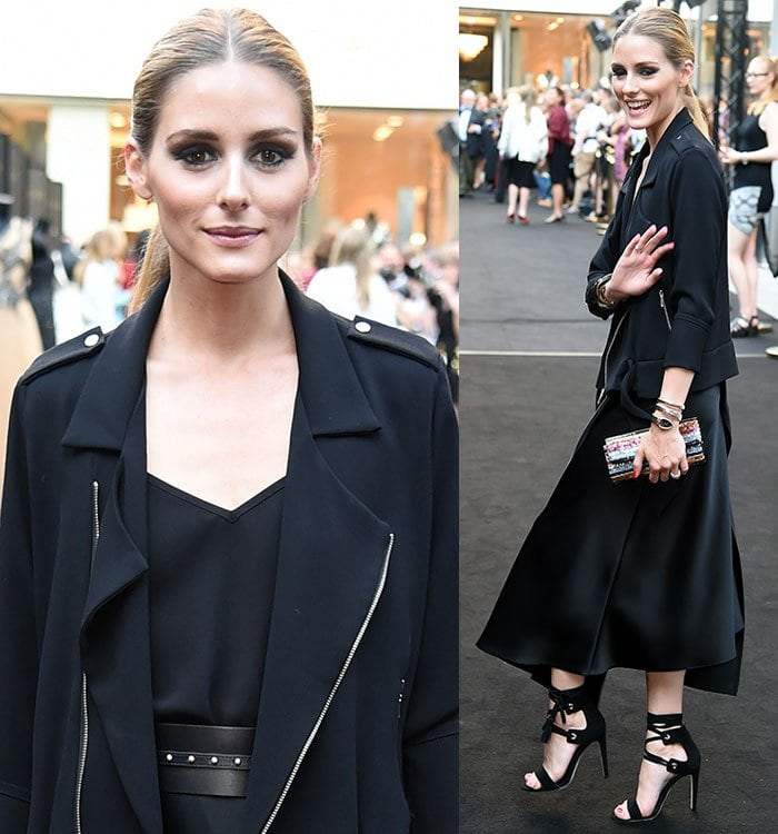 Olivia-Palermo-Escada-skirt-jacket-tank-top-Bulgari-belt