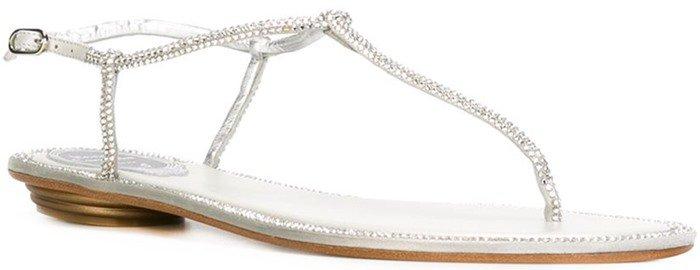 Rene Caovilla embellished T-bar sandal
