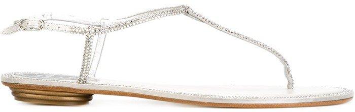 Rene Caovilla embellished T-bar sandals
