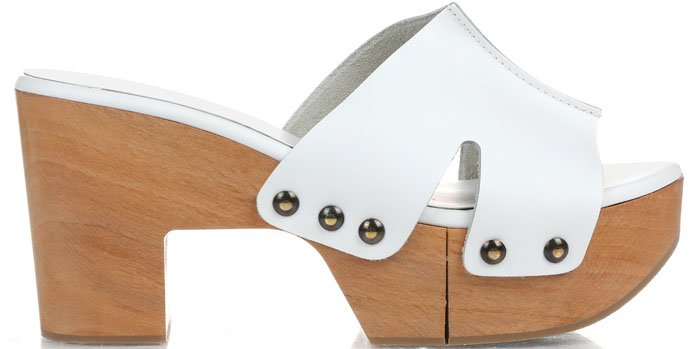 Robert Clergerie Cetri Clog Sandals White