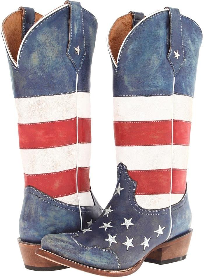 Roper American Flag Snip Toe Boots