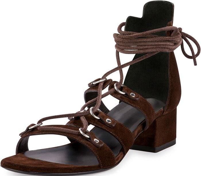 Saint Laurent Babies Suede Gladiator Sandals