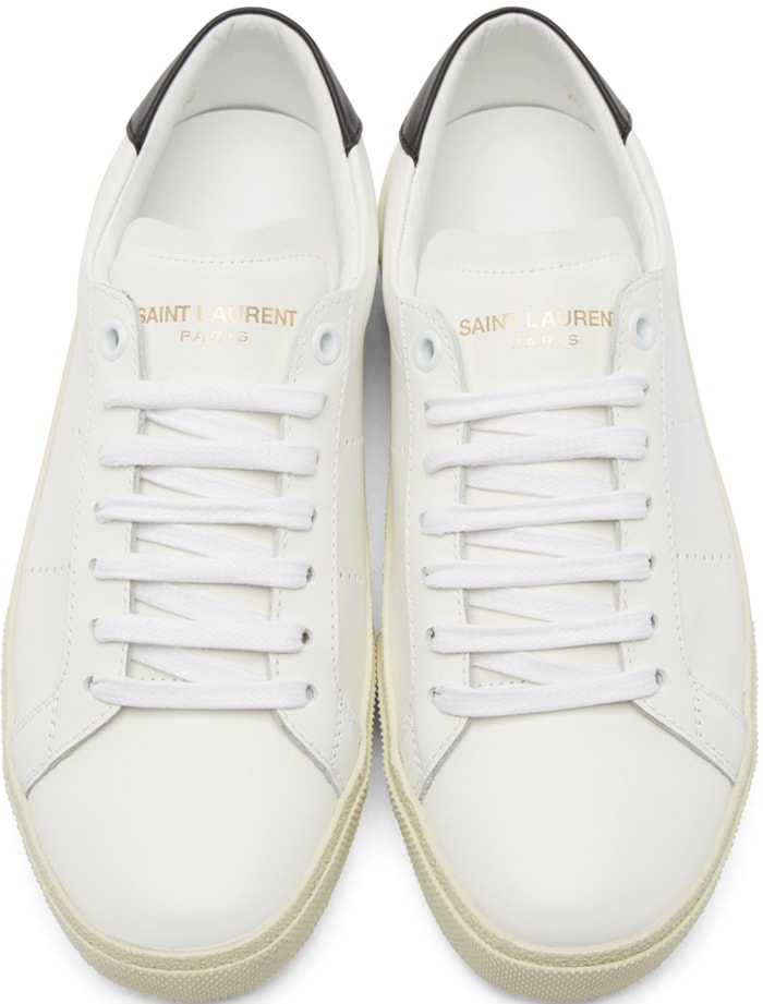 Saint Laurent Court Sneakers Black 1