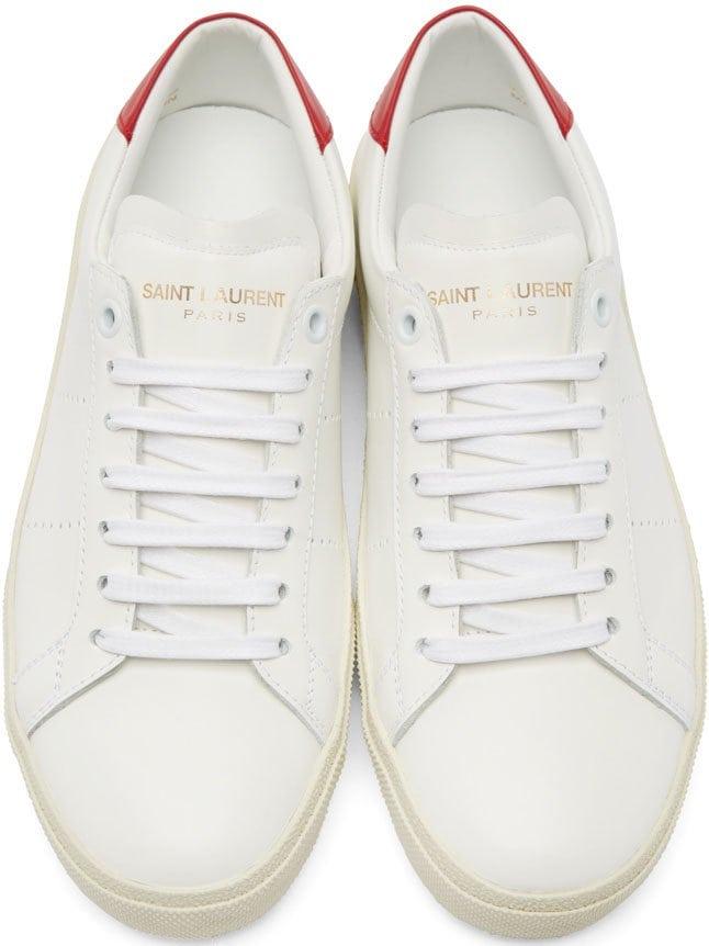 Saint Laurent Court Sneakers Red 2