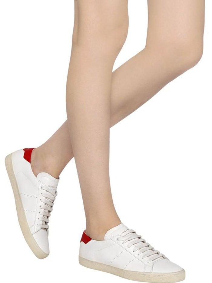Saint Laurent Court Sneakers Red 3
