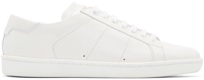 Saint Laurent Court Sneakers White 1