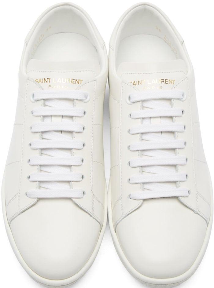 Saint Laurent Court Sneakers White 2