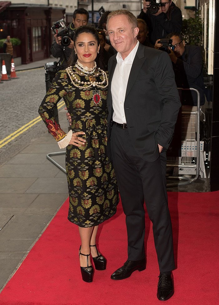 """Salma Hayek with husband Francois-Henri Pinault at the screening of """"Tale of Tales"""""""