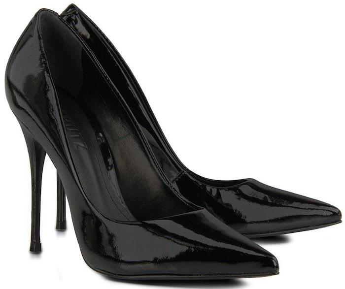 Schutz Black Court Shoes