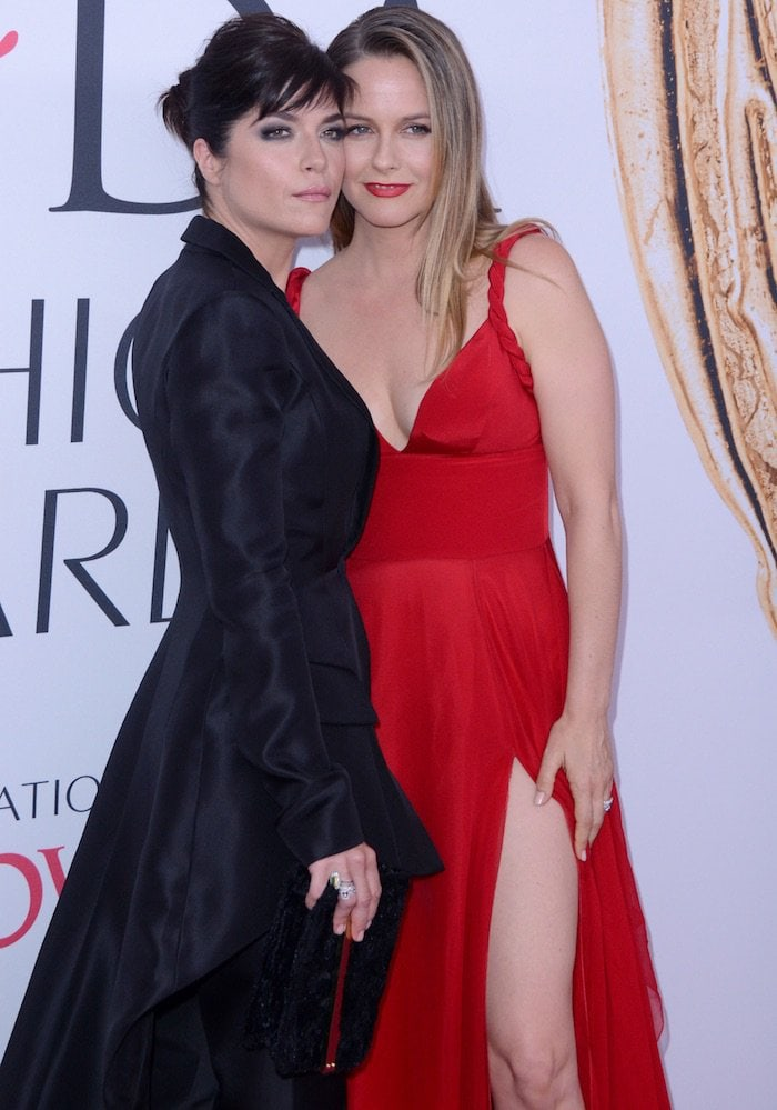 Alicia Silverstone and Selma Blair both wore outfits from American fashion designer Christian Siriano at the 2016 CFDA Fashion Awards