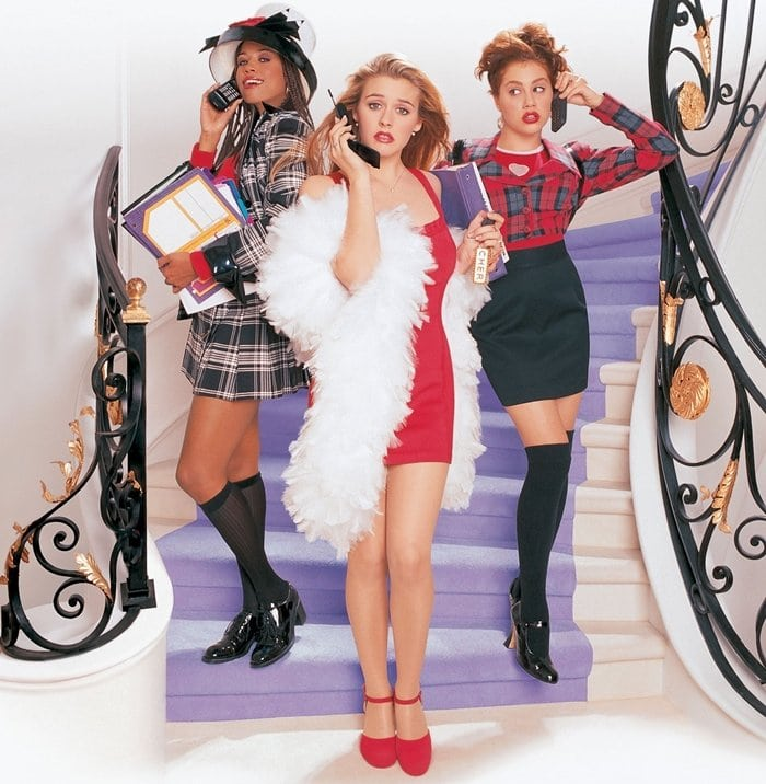 Stacey Dash (as Dionne Davenport), Alicia Silverstone (as Cher Horowitz), and Brittany Murphy (as Tai Frasier) in Clueless