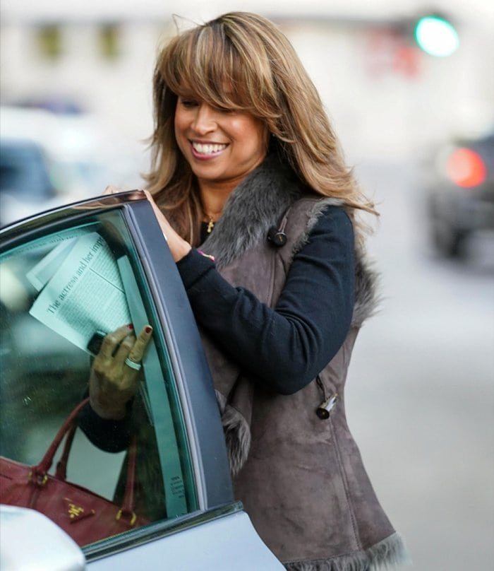 Clueless actress Stacey Dash leaves her house on January 21, 2021