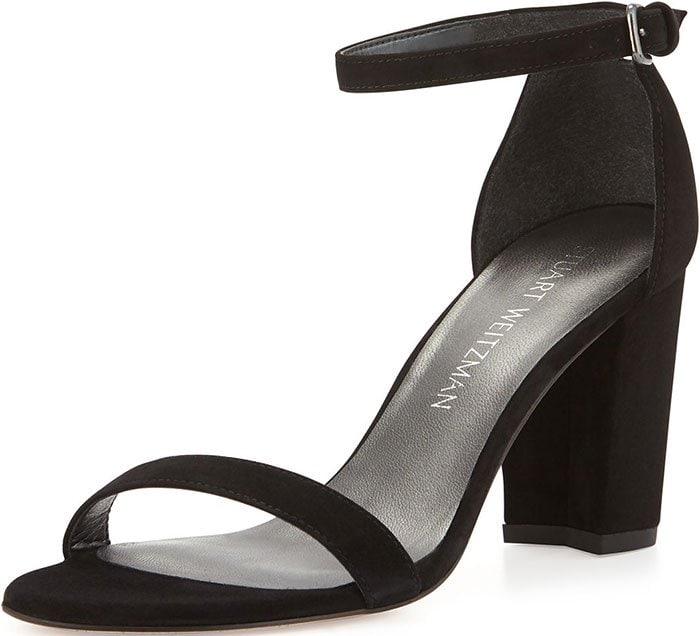 Stuart-Weitzman-Nearlynude-Black-Suede-Sandals