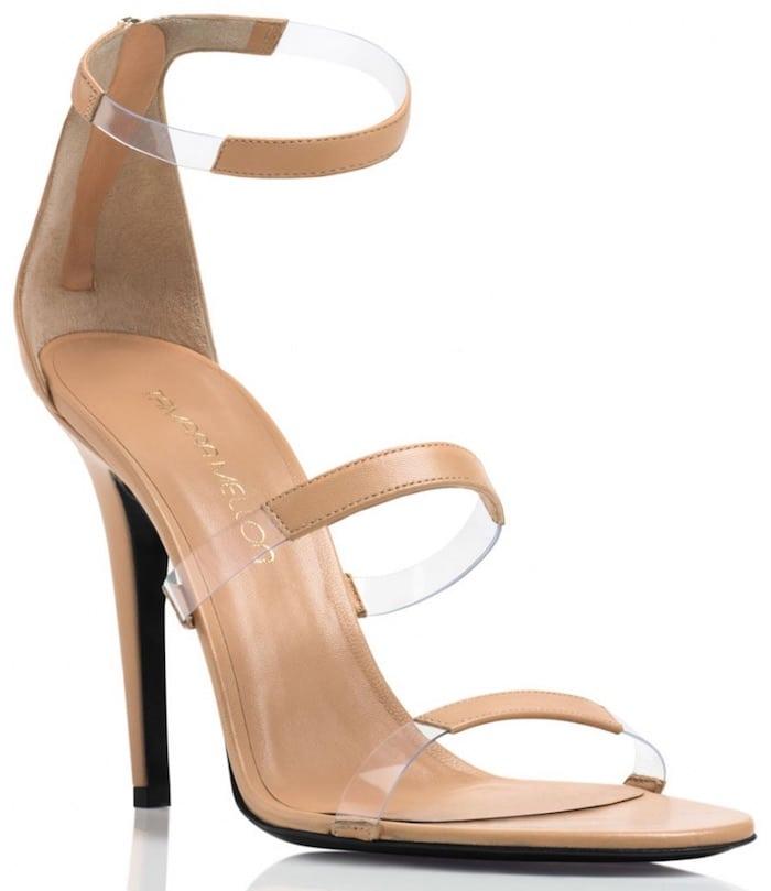 Tamare Mellon Frontline nude sandals