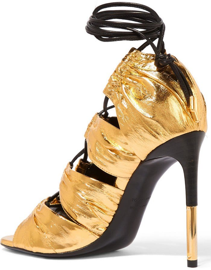 Tom Ford Metallic eel and leather sandal