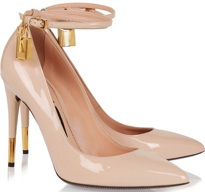 Tom Ford Patent Leather Pumps in Nude