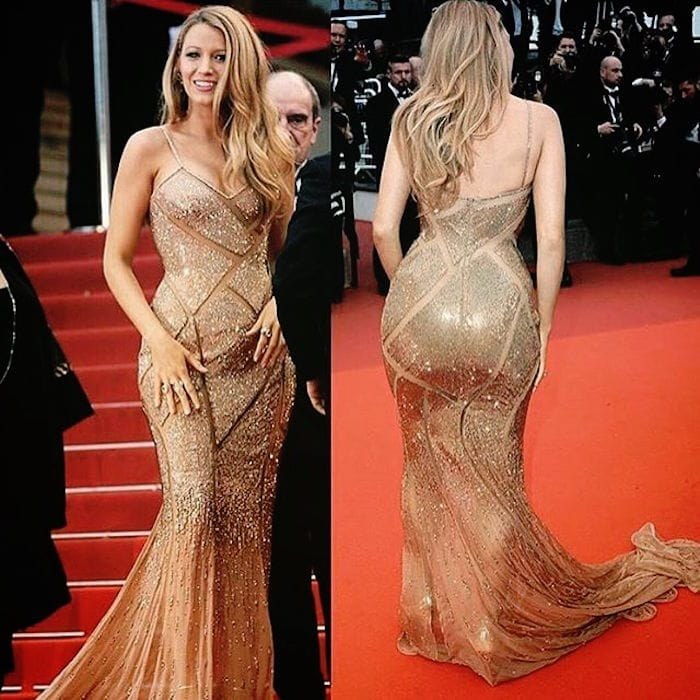 Blake shared a photo of her gorgeous Versace gown on Instagram days after she wore it at the event