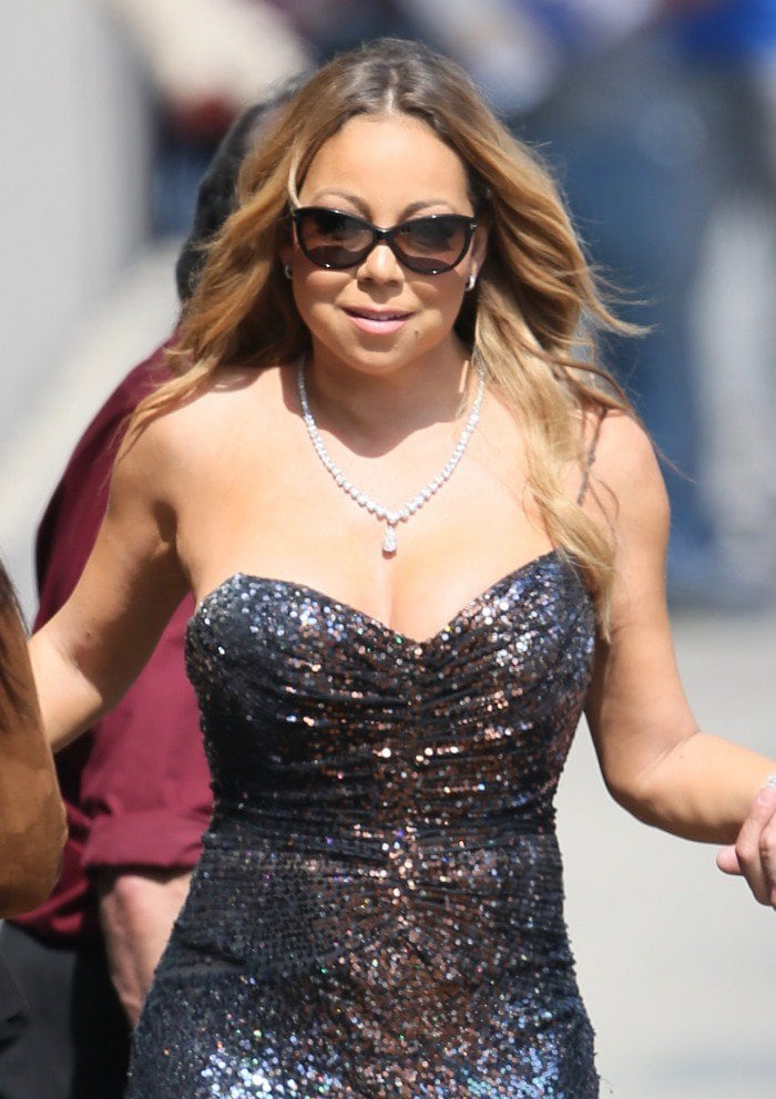 Mariah Carey arriving at the ABC Studios in Los Angeles on June 1, 2016